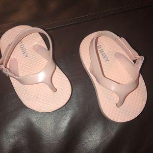 Baby Pink Slingback flip flops
